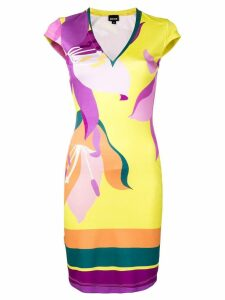 Just Cavalli fitted day dress - Yellow
