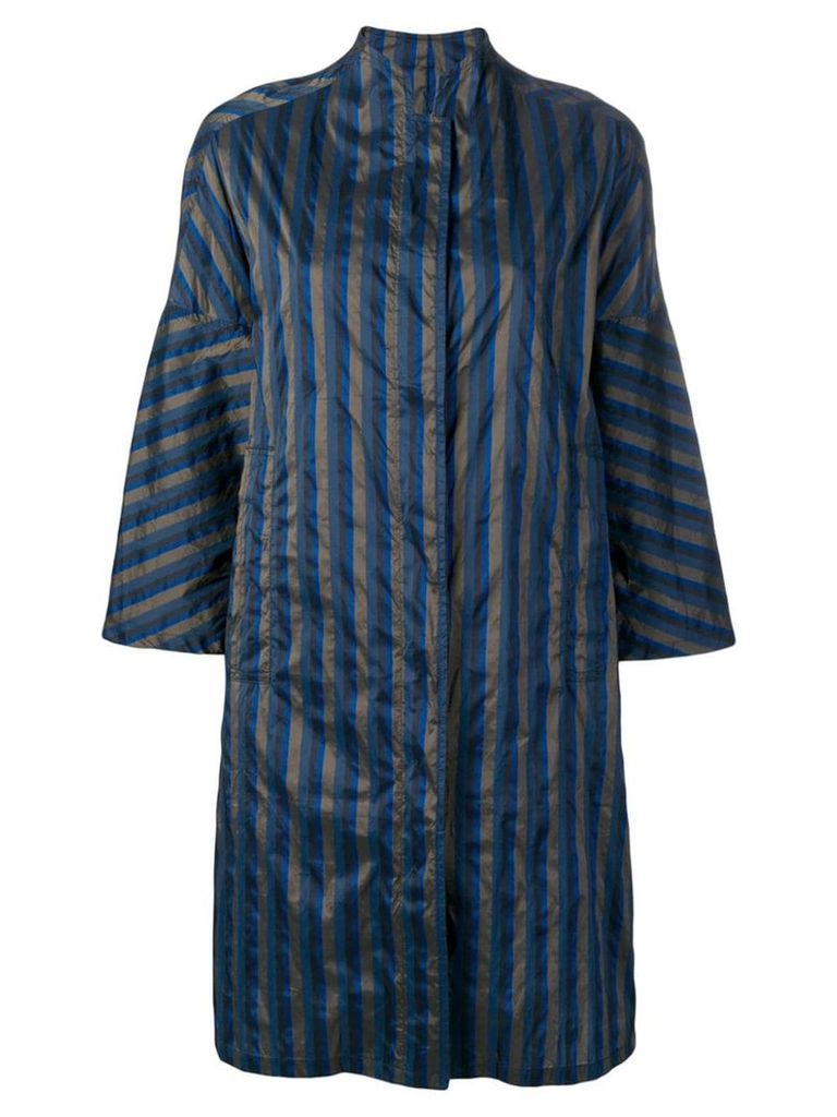 Aspesi striped navy coat - Blue