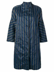 Aspesi striped navy coat - Blue
