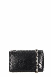 Giuseppe Zanotti Black Leather Cristen Bag