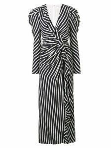 Jonathan Simkhai striped gathered dress - Blue