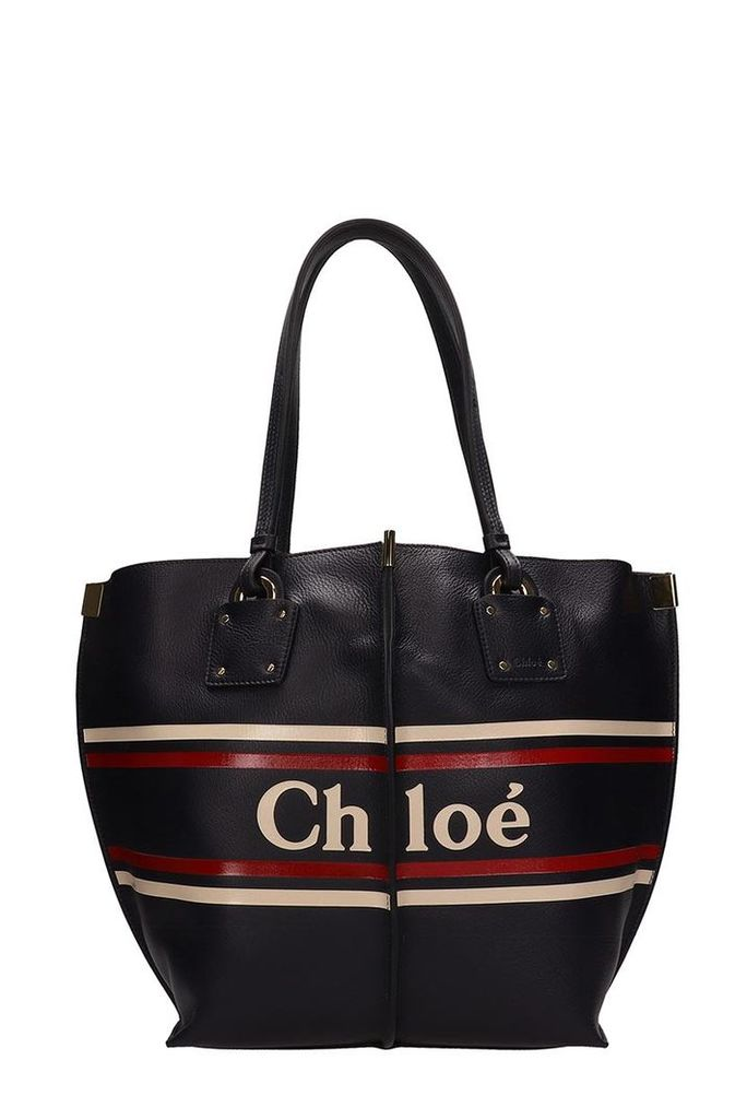 Chloé Black Leather Vick Tote Bag
