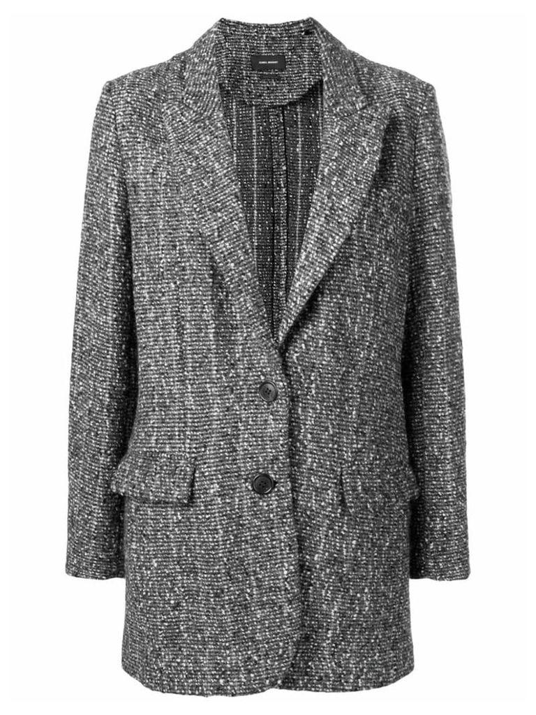 Isabel Marant tweed coat - Black