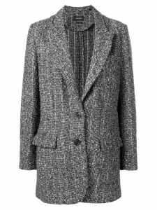 Isabel Marant tweed coat - Black