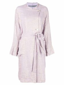Raquel Allegra off-centre button coat - Purple