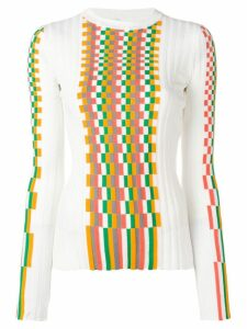 Loewe fitted knitted top - White