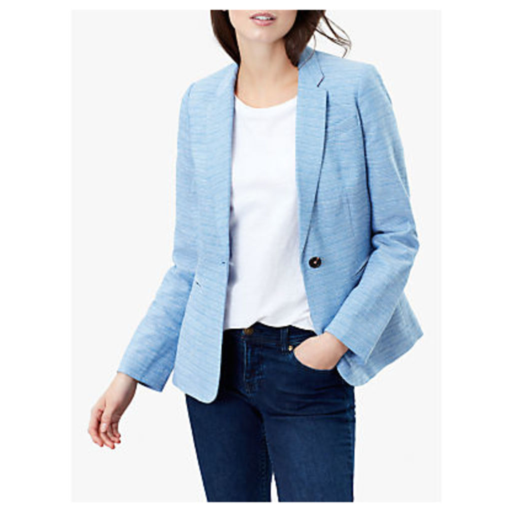 Joules Leonie Cotton Blazer, Blue