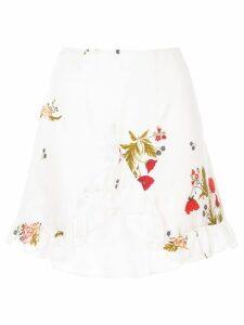Macgraw Bonjour ruffle skirt - White