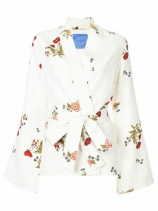 Macgraw Cognac robe coat - White