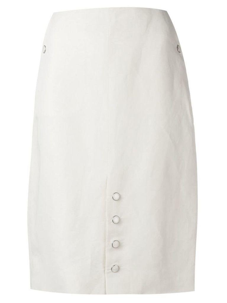 Aalto button detail straight skirt - Neutrals