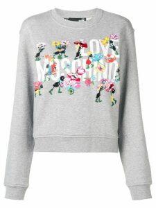 Love Moschino floral logo sweatshirt - Grey