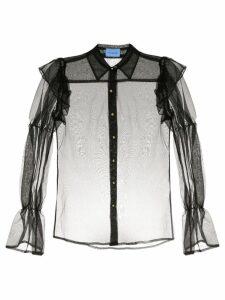 Macgraw Souffle sheer blouse - Black