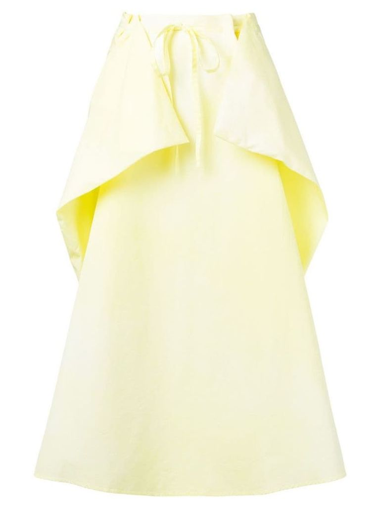 Lemaire baggy-fit skirt with layer - Yellow