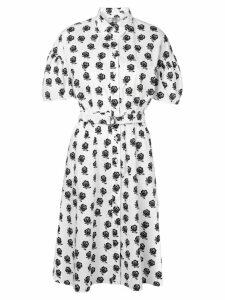 Kenzo shirt dress with rose print - White