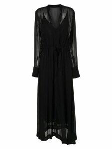 Osklen sheer long dress - Black