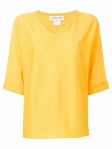 Lamberto Losani short-sleeve flared top - Yellow