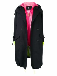 Bazar Deluxe trench coat with interior gilet - Black