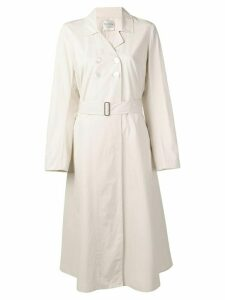 Forte Forte double-breasted trench coat - Neutrals