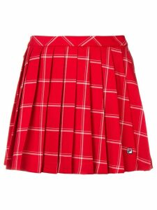 Fila checked pleated skirt - Red