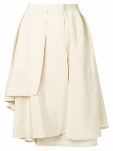 Lemaire draped midi skirt with layers - NEUTRALS