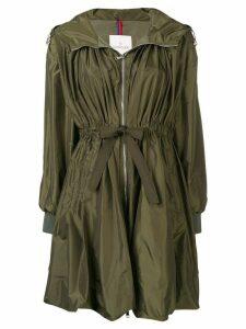 Moncler tie waist rain coat - Green