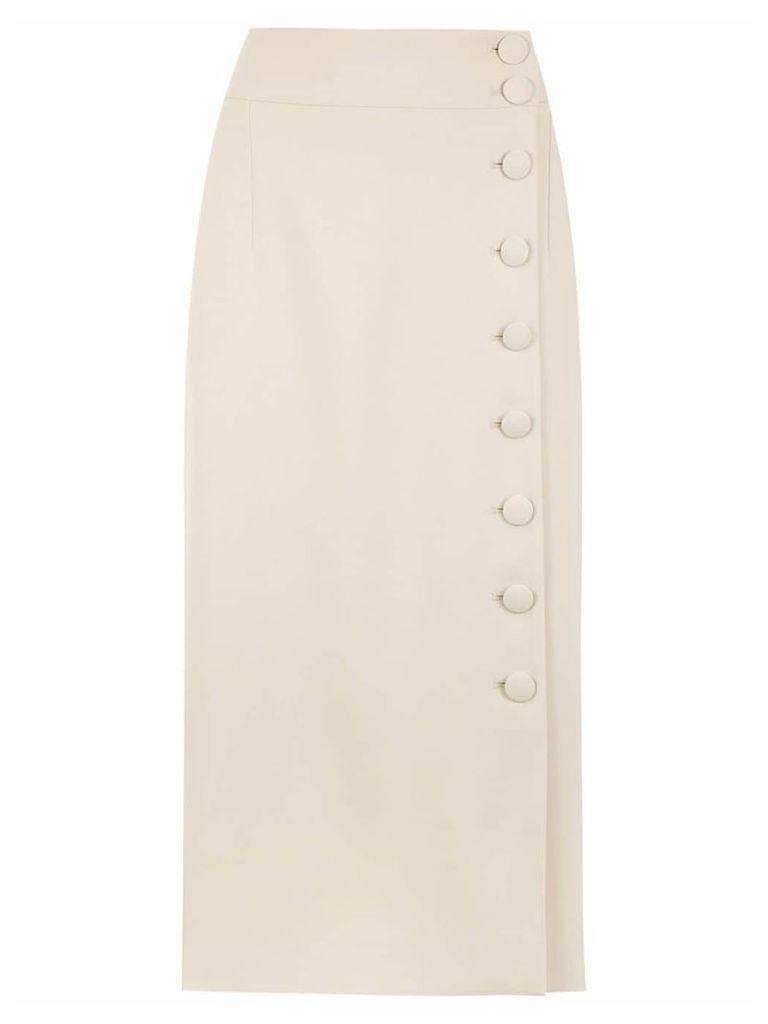 Egrey midi buttonned skirt - Neutrals
