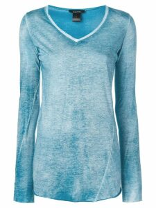 Avant Toi fitted long-sleeve top - Blue
