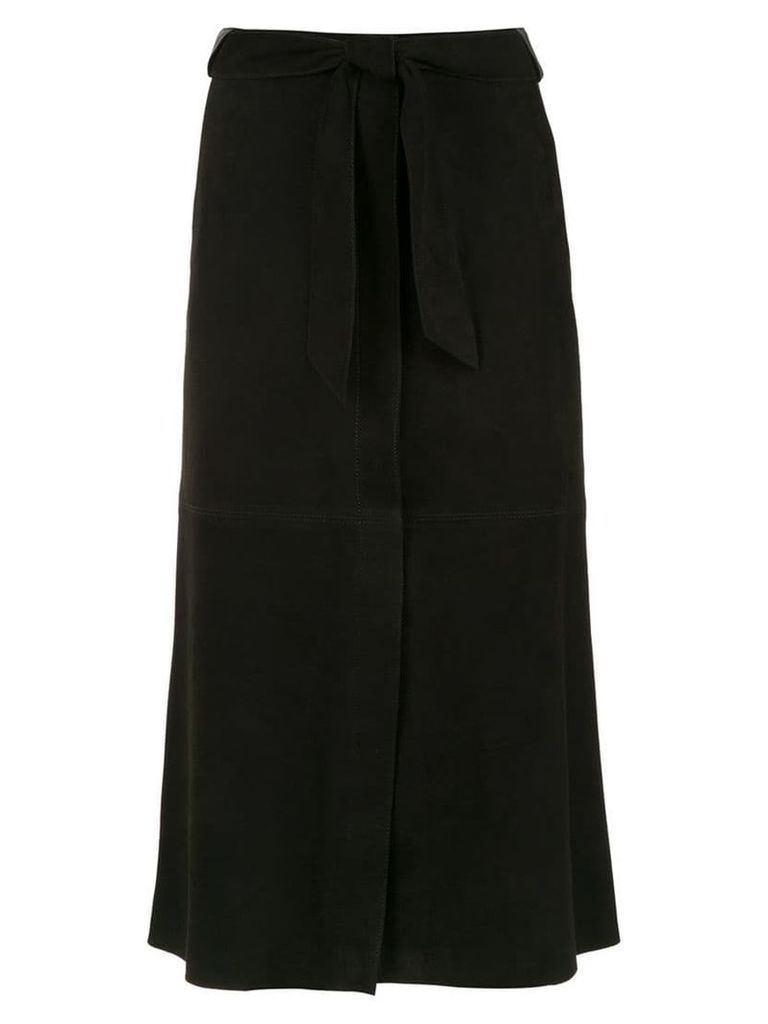 Egrey suede midi skirt - Black