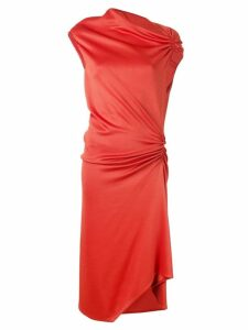 Narciso Rodriguez ruched midi dress - Orange