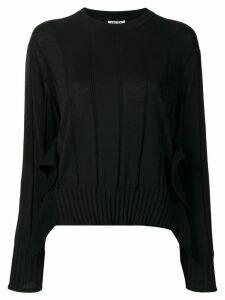 Kenzo pleated knit jumper - Black
