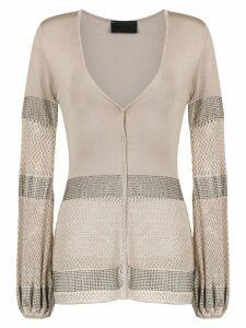 Andrea Bogosian knitted cardigan - Gold
