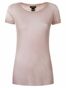 Avant Toi round-neck tulle T-shirt - Neutrals