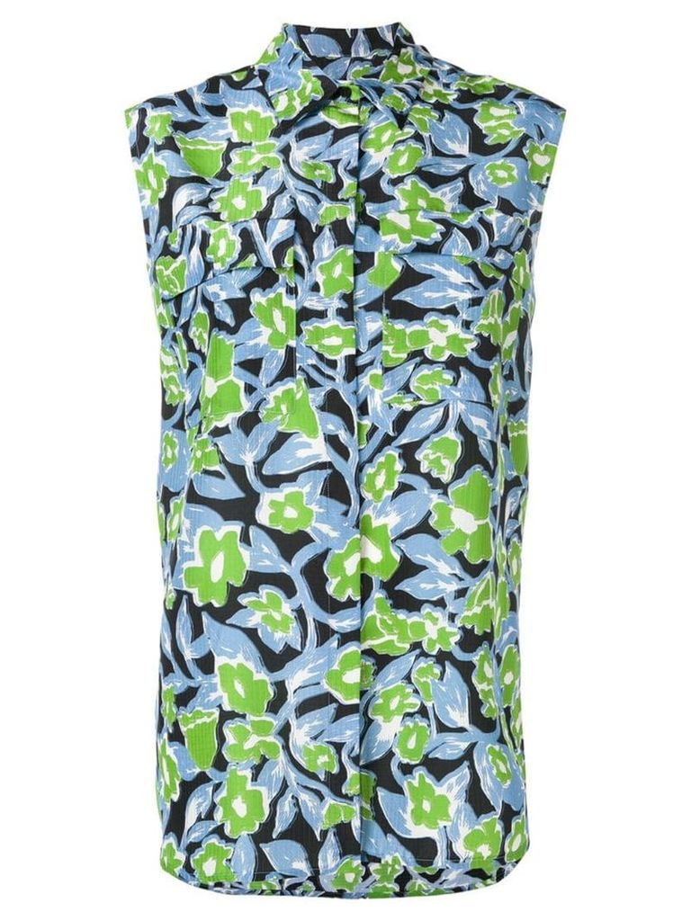 Christian Wijnants Toba sleeveless shirt - Green