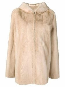Liska oversized hooded coat - Neutrals