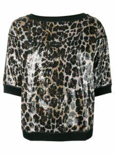 Antonio Marras leopard print vinyl T-shirt - Black