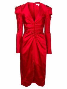 Jonathan Simkhai ruched satin dress - Red