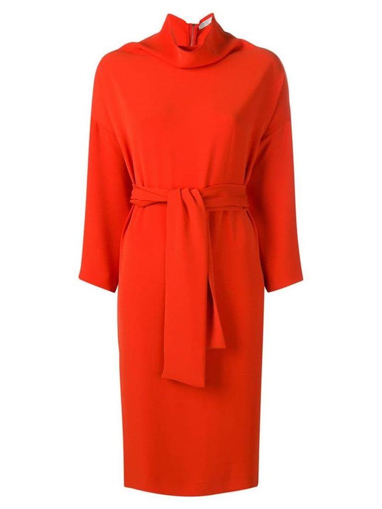 Poiret Poppy cowl dress - Red