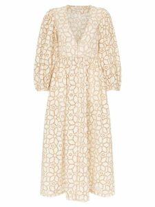 Mara Hoffman Bette floral-embroidered cotton-blend dress - Natural