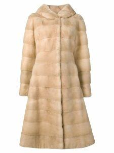 Liska Valencia long fur coat - NEUTRALS
