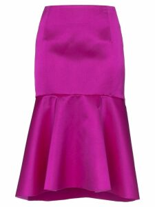 Balenciaga high-waisted flared midi skirt - Pink