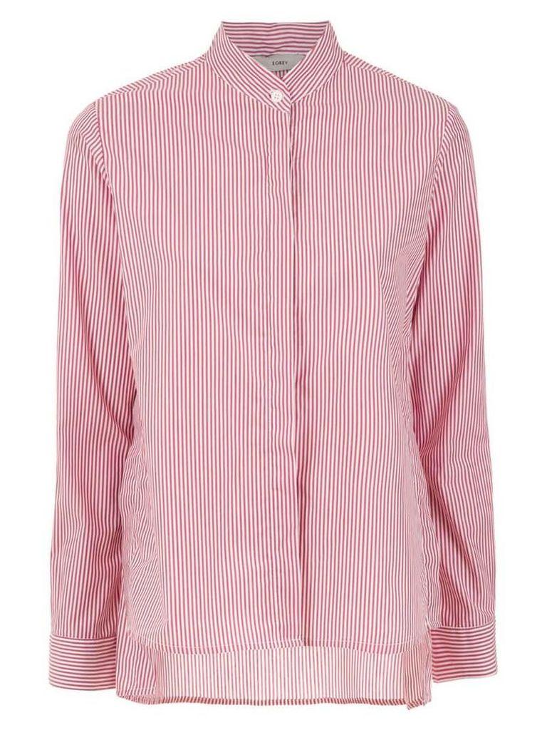 Egrey striped shirt - Red