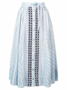 Lemlem Nefasi button-down full skirt - Blue