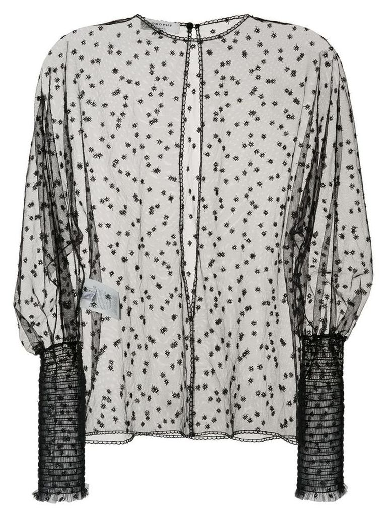 Philosophy Di Lorenzo Serafini sheer scalloped detail blouse - Black
