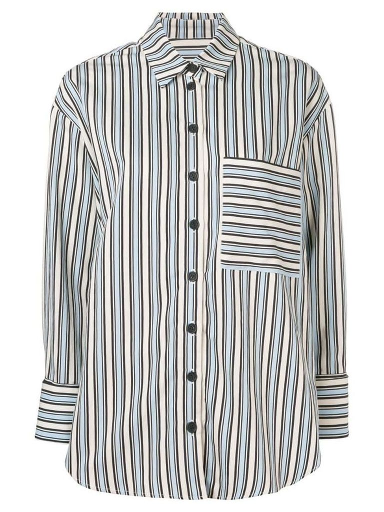 Chinti & Parker stripe buttoned shirt - Blue