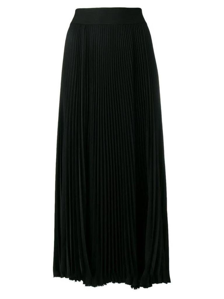 Poiret micro-pleated midi skirt - Black