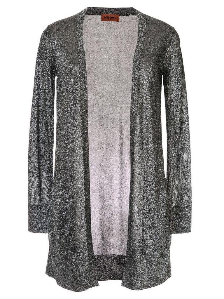 Missoni long glittery cardigan - Silver
