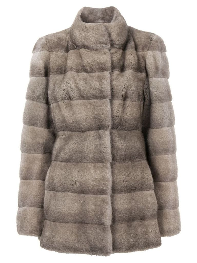 Liska Valencia short fur coat - Grey