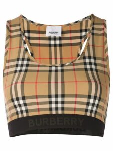 Burberry vintage check bra top - Brown