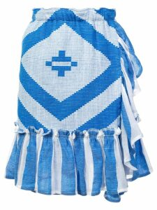Lemlem Biruhi textured wrap skirt - Blue