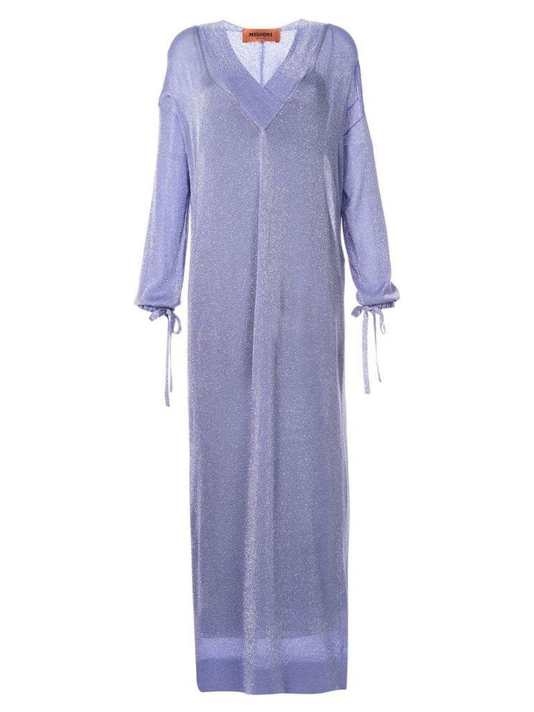 Missoni glittery kaftan dress - Purple